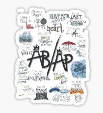 Fall Out Boy Lyric Art Sticker