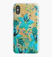 BLOOMING BEAUTIFUL - Modern Abstract Acrylic Tropical Floral Painting, Home Decor Gift for Her iPhone Case