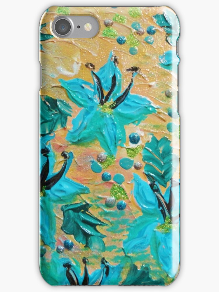 BLOOMING BEAUTIFUL - Modern Abstract Acrylic Tropical Floral Painting, Home Decor Gift for Her by EbiEmporium