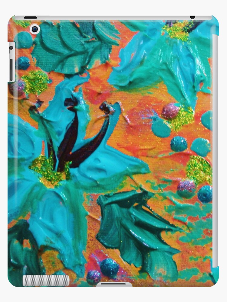 Blooming Beautiful 2 Modern Abstract Acrylic Tropical Floral