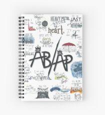 Fall Out Boy Lyric Art Spiral Notebook