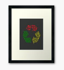 Peace, Love and Happiness Framed Print