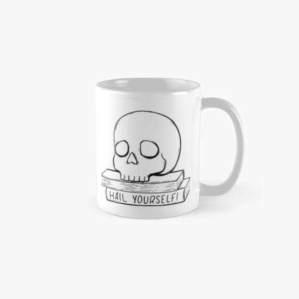 Hail Yourself Skull & Spellbook Classic Mug