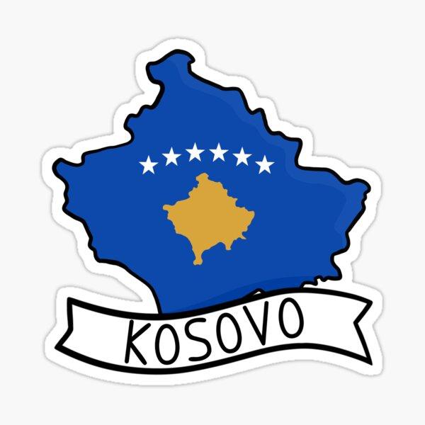 Kosovo Flag Map Aufkleber Sticker
