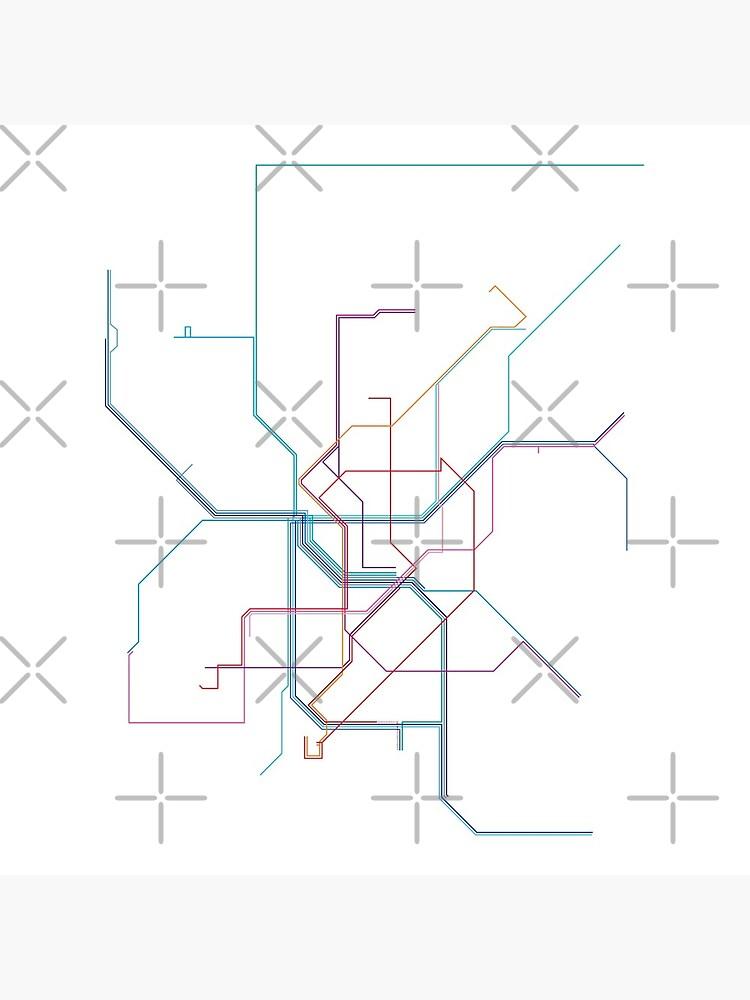 Düsseldorf Rail Map by in-transit
