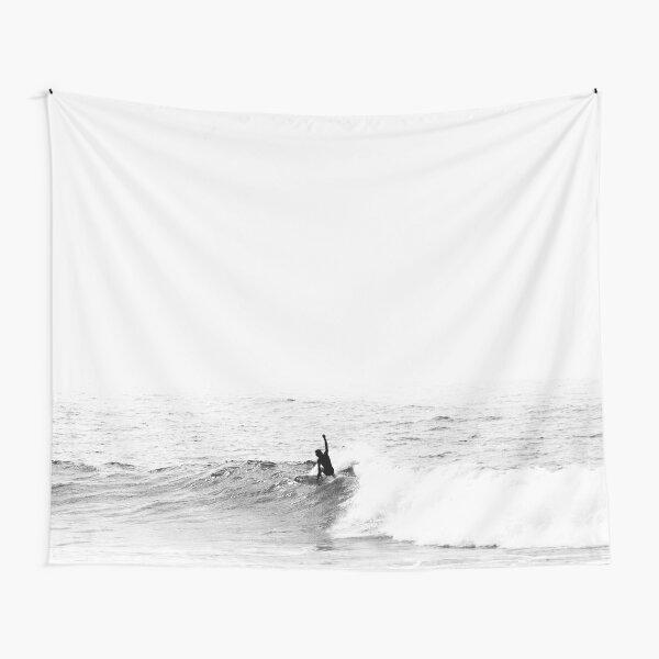 Surfer on Wave in Open Ocean Tapestry