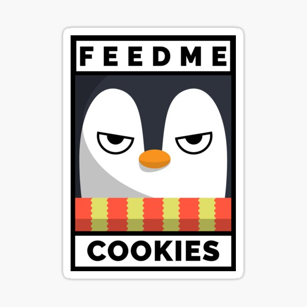 Feed Me Cookies: Christmas Angry Lil Pigeon Sticker