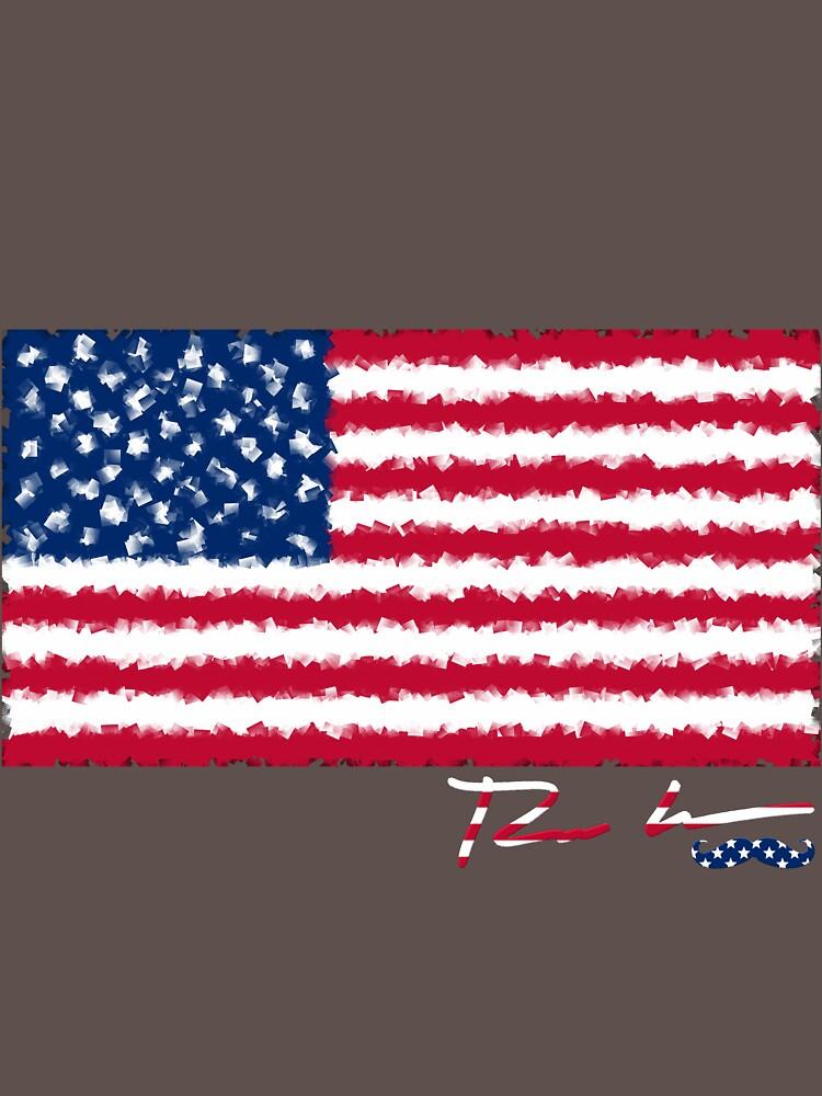 Ron Hedges - Cubist Flag by ronhedges