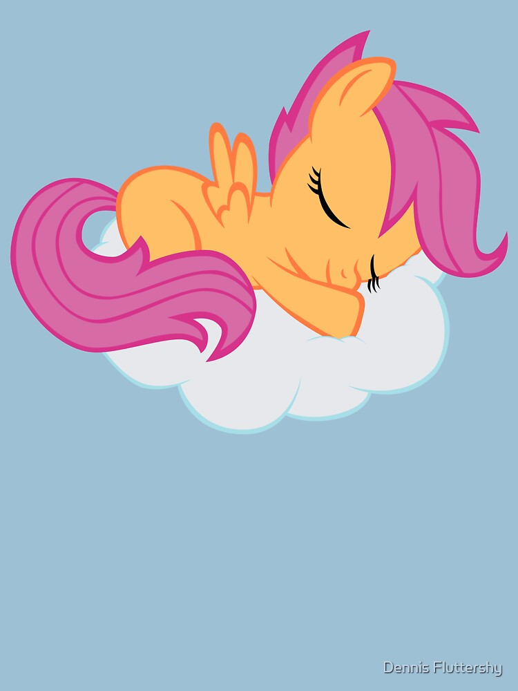 Scootaloo Sleeping on Cloud | Unisex T-Shirt