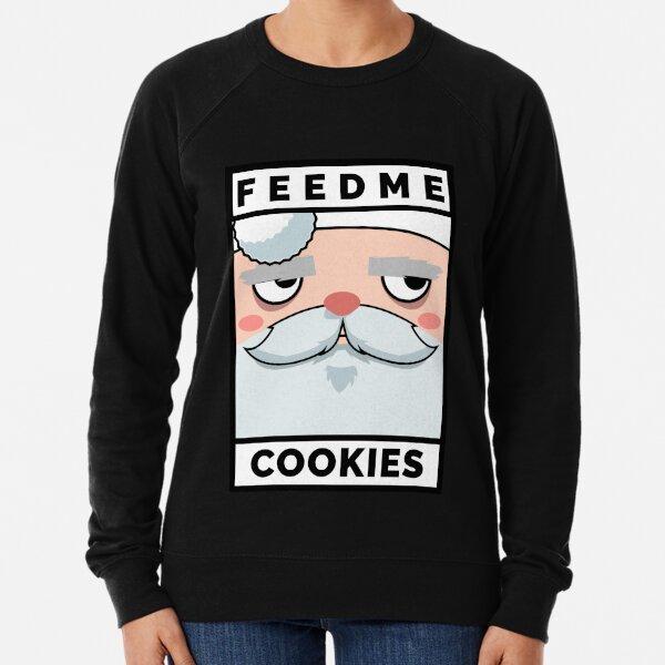 Feed Me Cookies: Christmas Grumpy Lil Santa Lightweight Sweatshirt