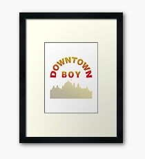 Just A Downtown Boy Framed Print
