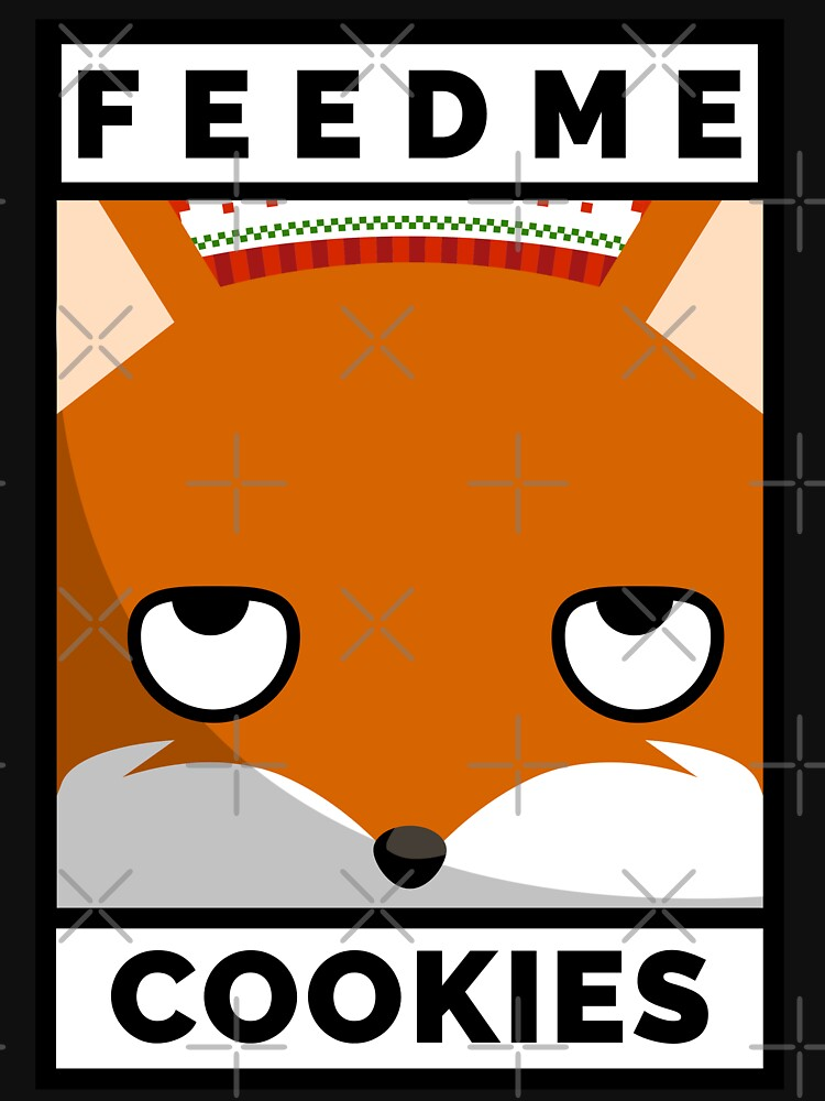 Feed Me Cookies: Christmas Cute Lil Fox by bowiebydesign