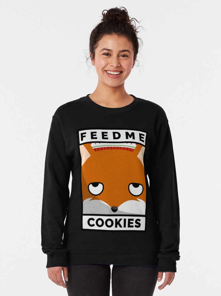 Alternate view of Feed Me Cookies: Christmas Cute Lil Fox Pullover Sweatshirt