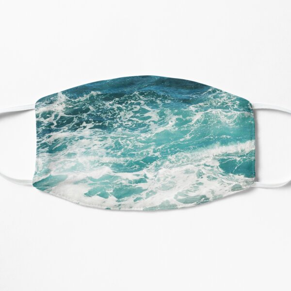 Blue Ocean Waves  Flat Mask