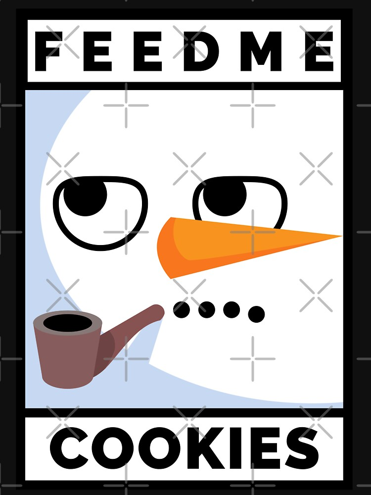 Feed Me Cookies: Christmas Cute Lil Carrot Face by bowiebydesign