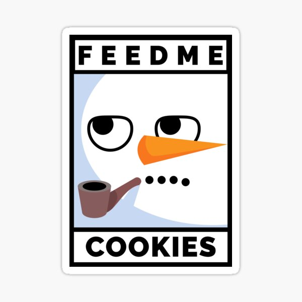 Feed Me Cookies: Christmas Cute Lil Carrot Face Sticker