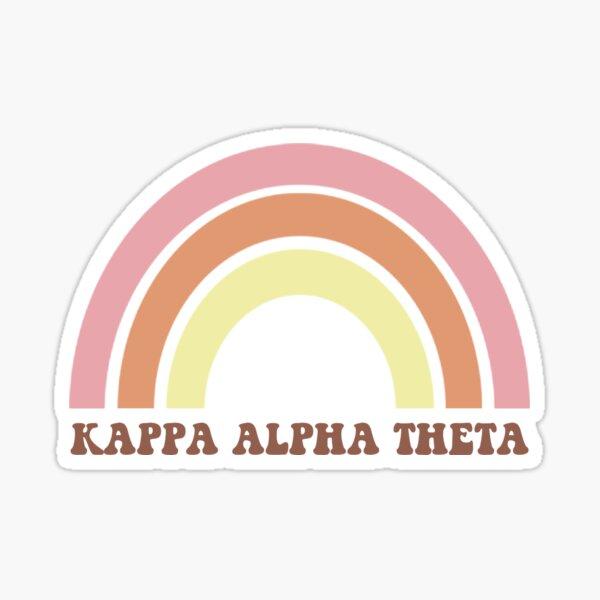 KAPPA ALPHA THETA Retro Rainbow Sticker