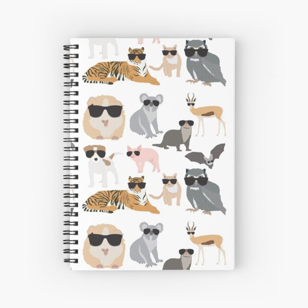 Cool and Funny Animals Wearing Sunglasses  Spiral Notebook