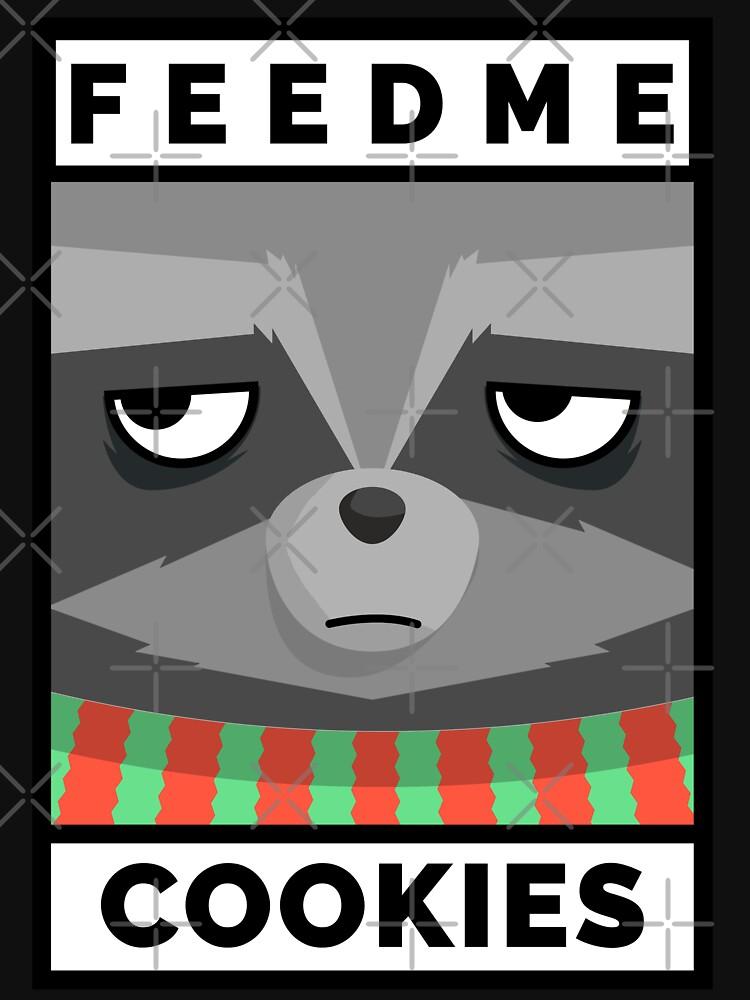 Feed Me Cookies: Christmas Cute Lil Raccoon by bowiebydesign