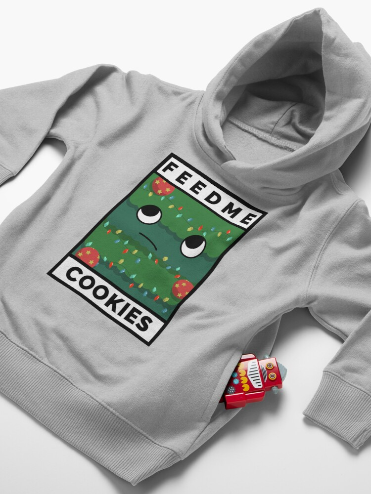 Alternate view of Feed Me Cookies: Cute Lil Holiday Tree Toddler Pullover Hoodie