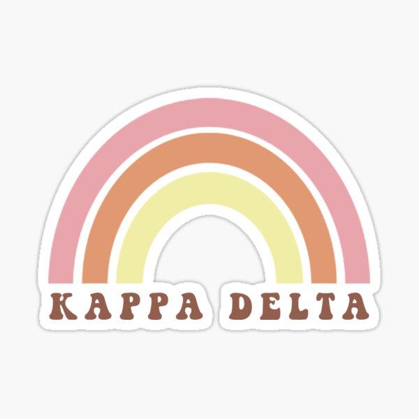 KAPPA DELTA Retro Rainbow Sticker