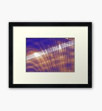 Jellyfish with rays of light Framed Print