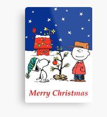 Charlie Christmas Tree Metal Print