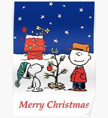 Charlie Christmas Tree Poster