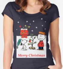 Charlie Christmas Tree Women's Fitted Scoop T-Shirt