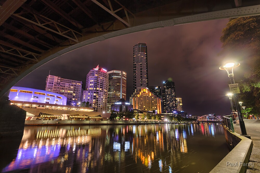 Southbank by Night by Paul Farey