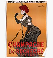 Belle epoque French champagne advertising Poster