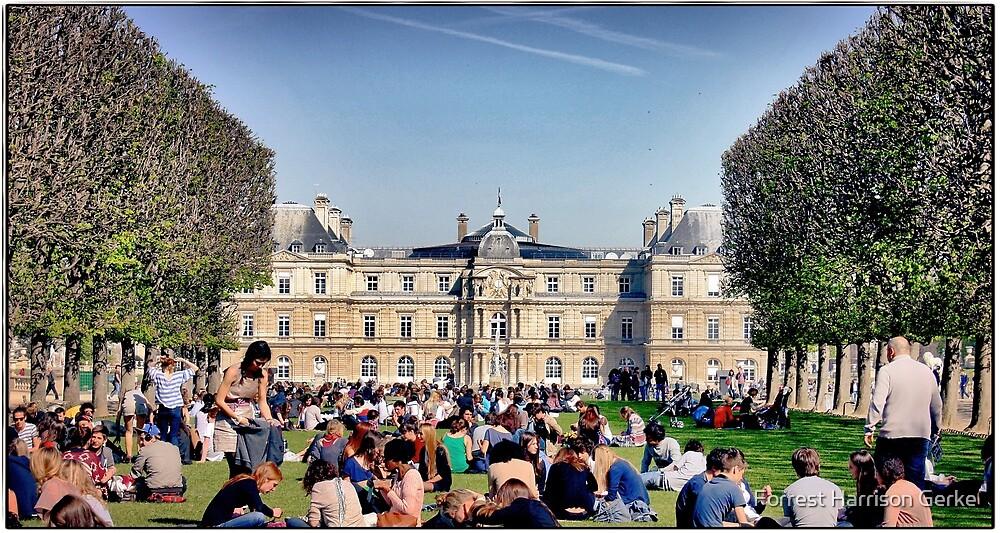 Les Jardins de Luxembourg, Paris. by Forrest Harrison Gerke