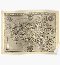 Regional Map of Brittany and Armorica France (1594) Poster