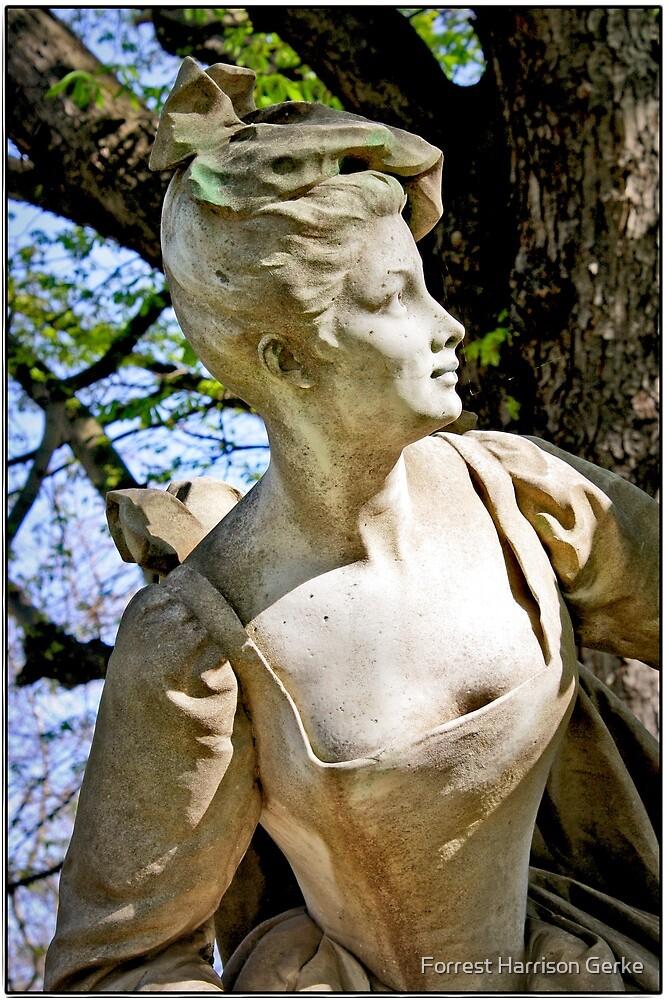 Sculpture in Les Jardins de Luxembourg, Paris. by Forrest Harrison Gerke