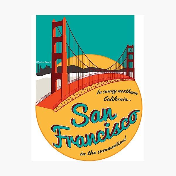 Retro San Francisco Aufkleber Fotodruck