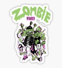 Zombie party Sticker