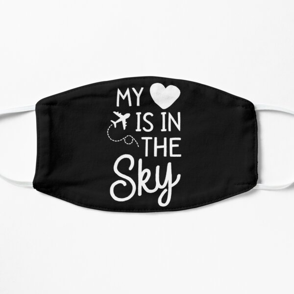 Flight Attendant Shirt For Women Mom My Heart Is In The Sky Mask