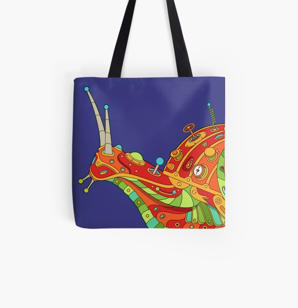 Snail All Over Print Tote Bag