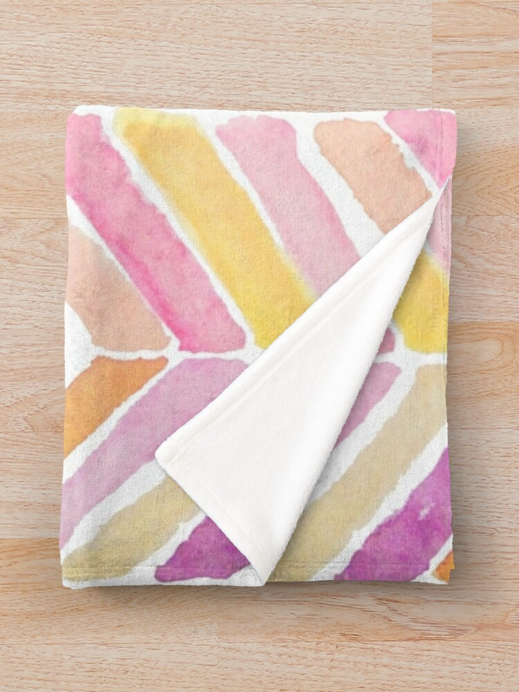 Alternate view of Watercolours soft mosaics Throw Blanket