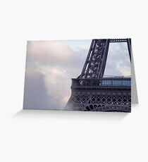 The center of the effeil tower and spouting water  Greeting Card