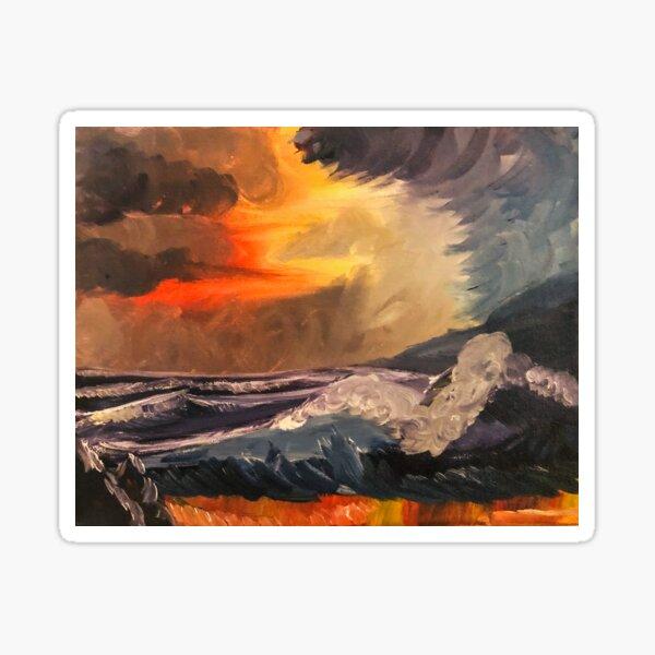 A Storm at Sunset Sticker