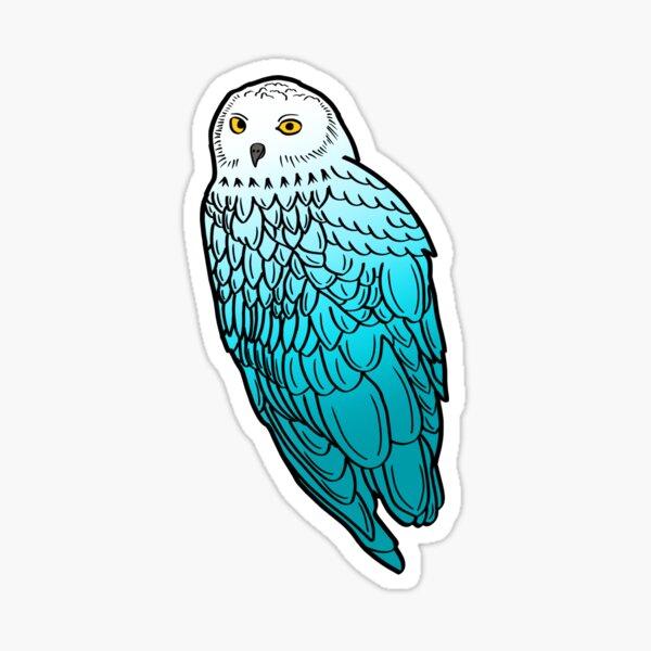 Blue Snowy Owl  Sticker