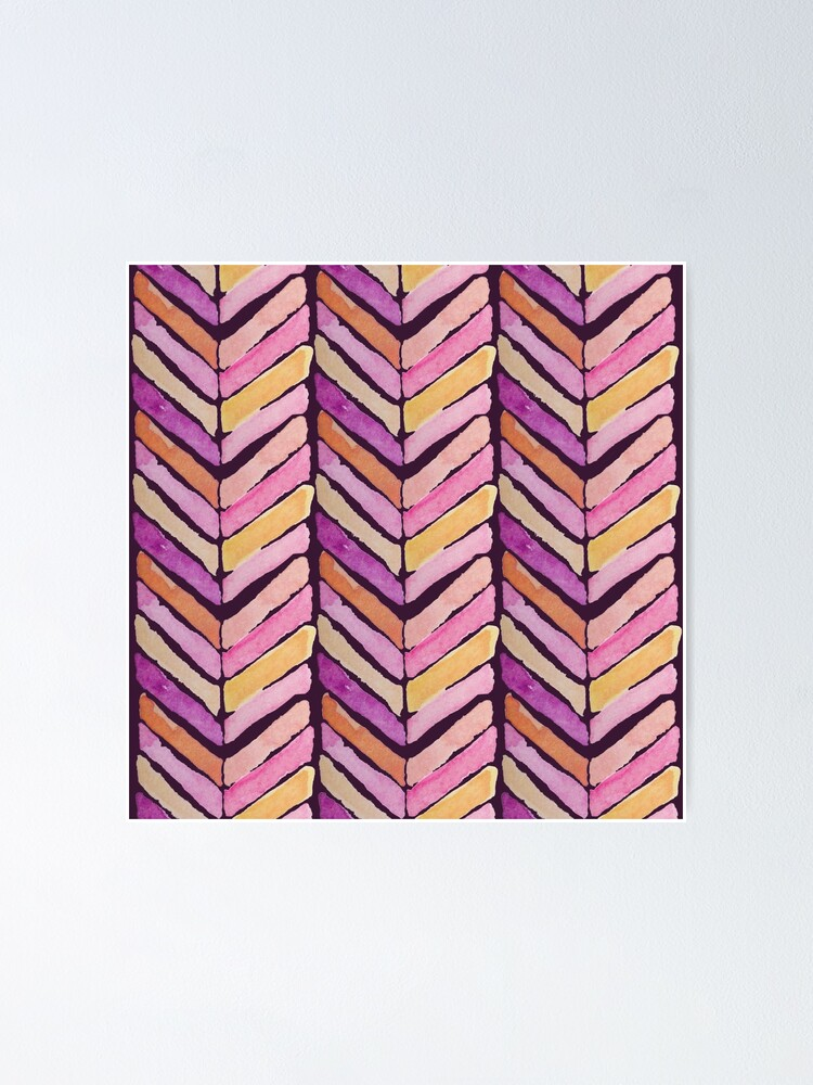 Alternate view of Watercolours mosaic_ warm color theme Poster