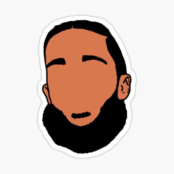 Nipsey Hussle Face art Sticker