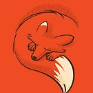 The fox is sleeping by japu