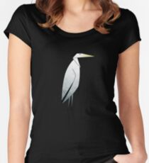 Heron Pattern Women's Fitted Scoop T-Shirt