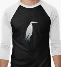 Heron Pattern Men's Baseball ¾ T-Shirt