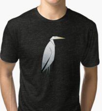 Heron Pattern Tri-blend T-Shirt