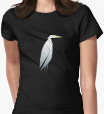 Heron Pattern Women's Fitted T-Shirt