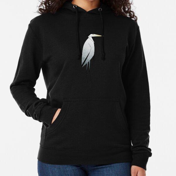Heron Pattern Lightweight Hoodie